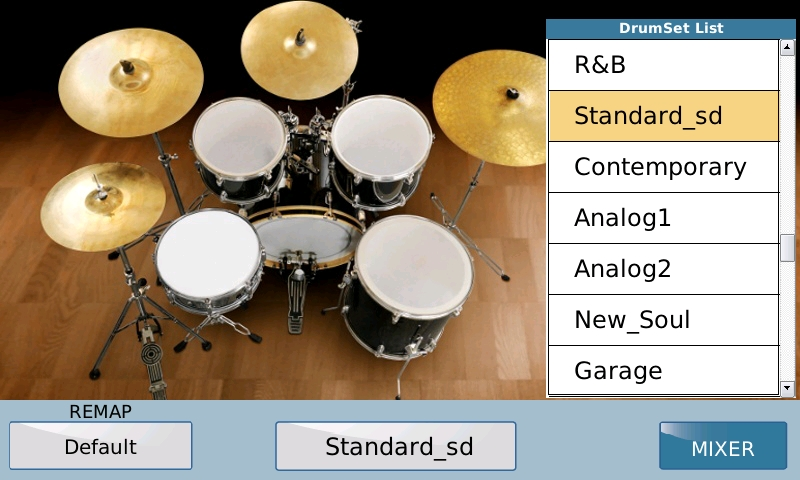 drum set default list
