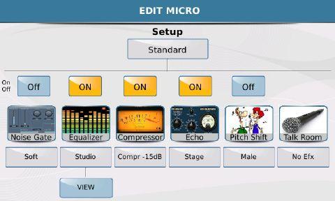 Ketron SD7 Keyboard Screen