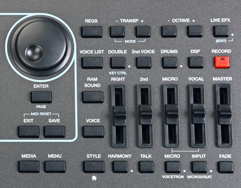 Ketron SD7 Keyboard Panel